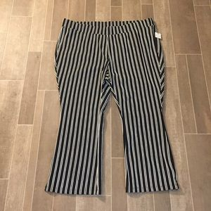 New ankle striped stretch pants 3X